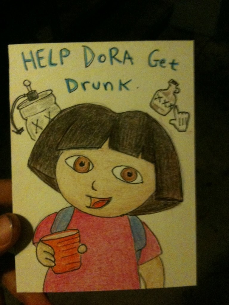Dora the college explorer | help Dora get drunk | Rogelio ...