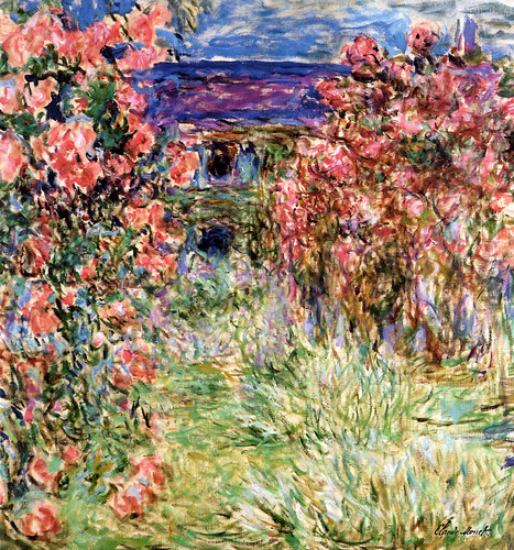 claude monet the house in the roses at albertina museum. Black Bedroom Furniture Sets. Home Design Ideas