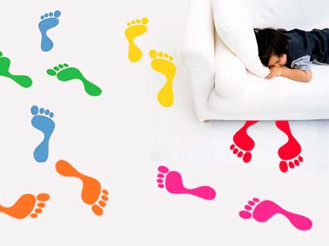 Vinilo decorativo pies huellas de pies ideales para - Suelos vinilicos infantiles ...
