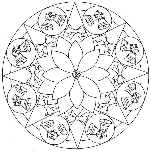 mandala coloring page - xmas