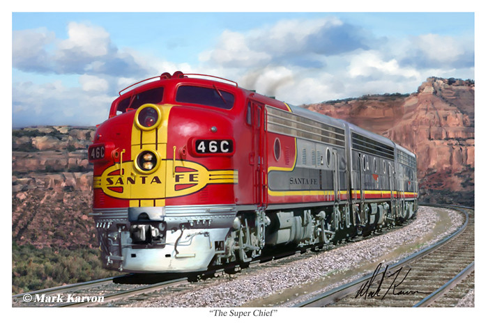 santa fe super chief print the super chief passenger train flickr. Black Bedroom Furniture Sets. Home Design Ideas