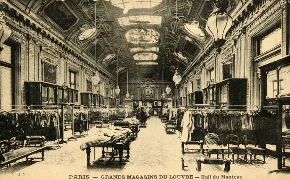 grands magasins du louvre paris coats hall oldimages. Black Bedroom Furniture Sets. Home Design Ideas