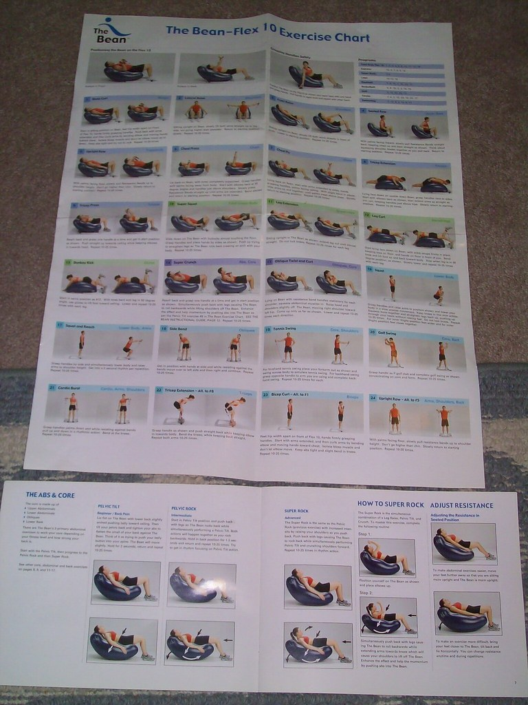 Company For Sale >> Bean Exercise Chart   Full color exercise chart on how to us…   Flickr