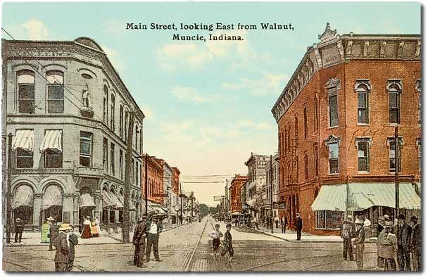 Main Street Looking East From Walnut Muncie Indiana Flickr