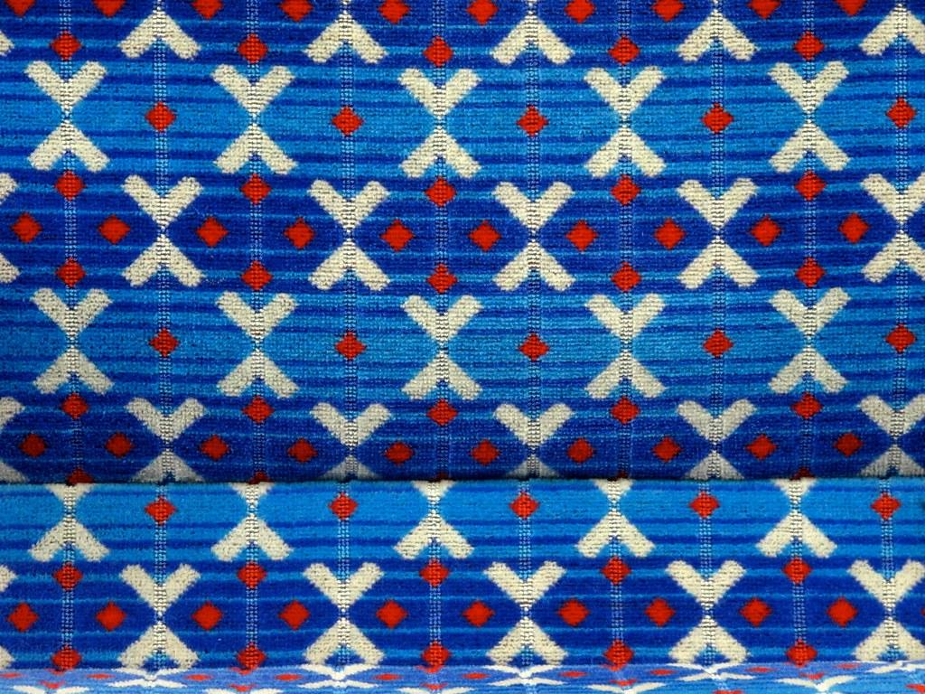 Victoria Line Train Seat Fabric