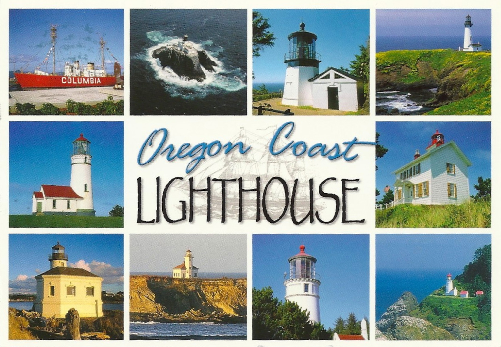 Lighthouses in Oregon Map Oregon Lighthouses of The
