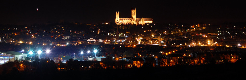 The City Of Lincoln By Night Ricklus Flickr