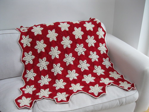 crochet snowflake blanket ..all done | by elsy965