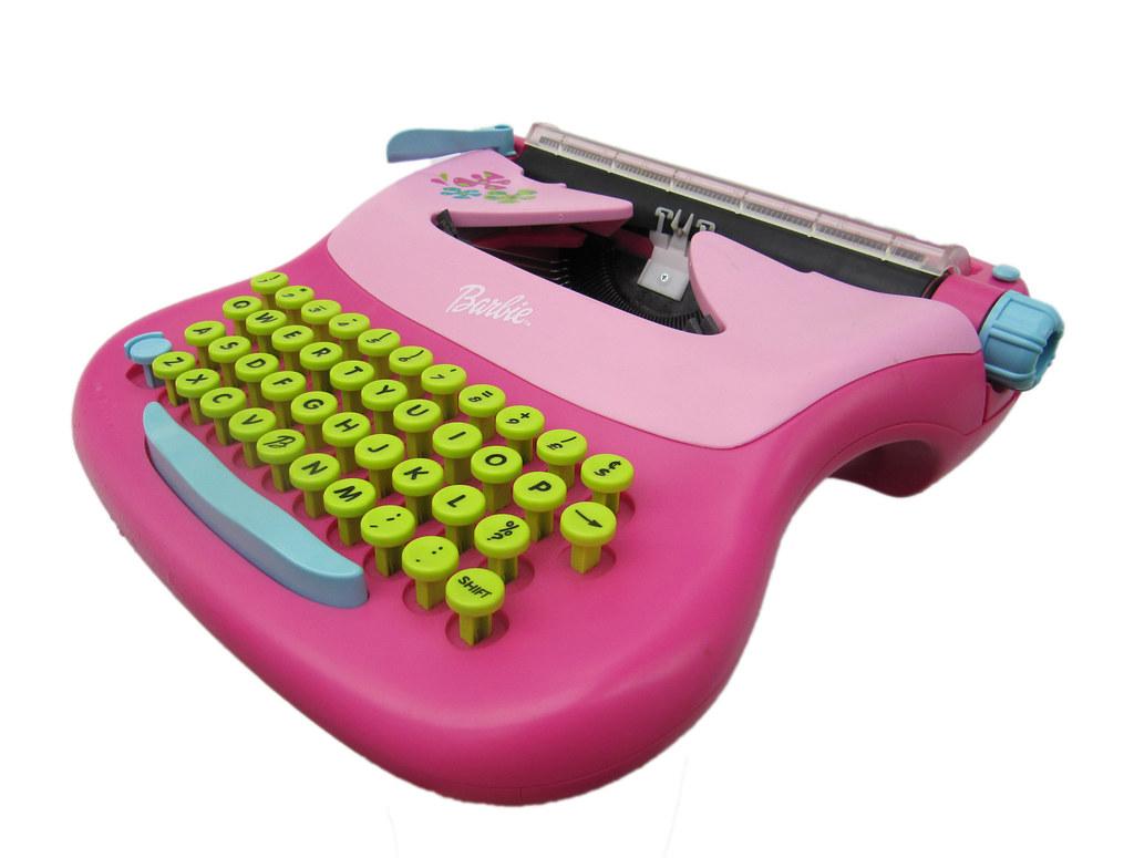 barbie schreibmaschine barbie typewriter n c193 made by flickr. Black Bedroom Furniture Sets. Home Design Ideas