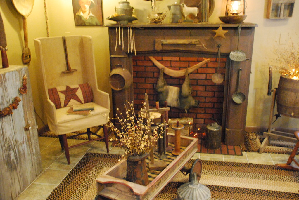 Primitive living room pearl flickr for Country living home decor