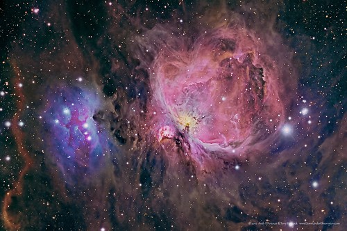 M42 Orion Nebula in RGB + Narrowband | by Terry Hancock www.downunderobservatory.com
