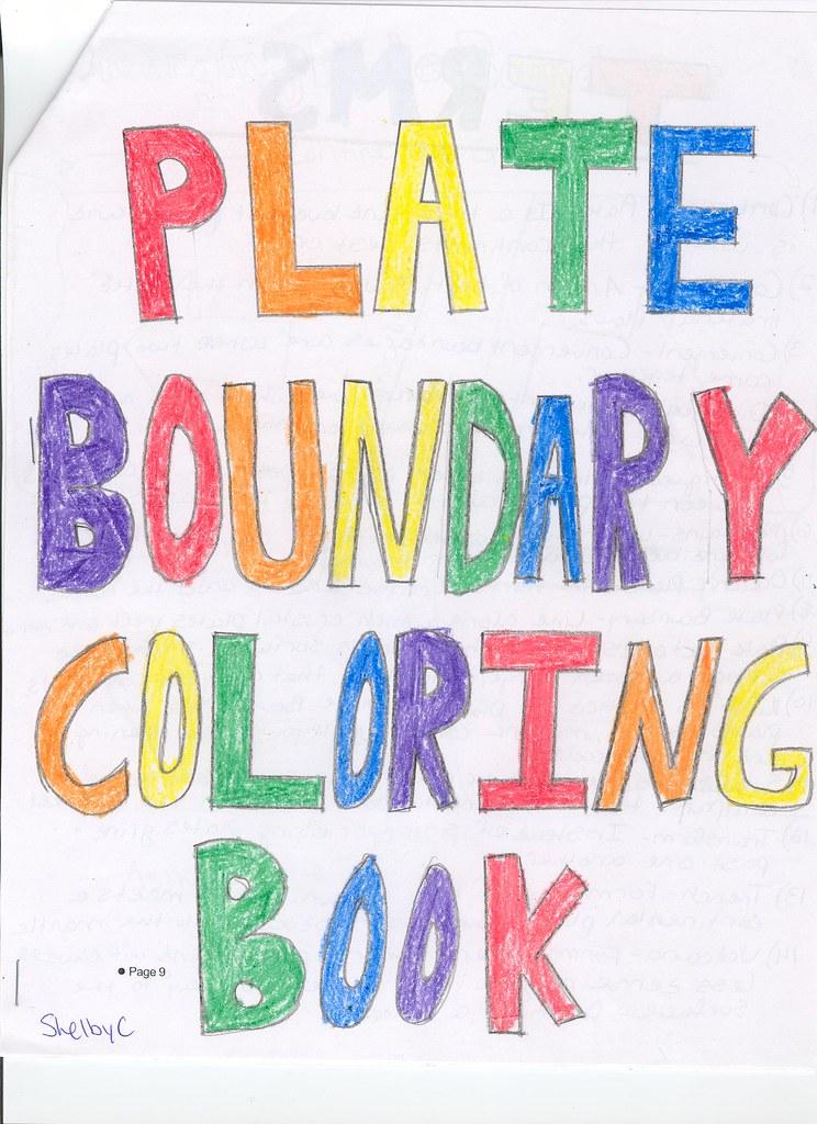 Plate tectonics coloring book dana m flickr for Plate tectonics coloring pages