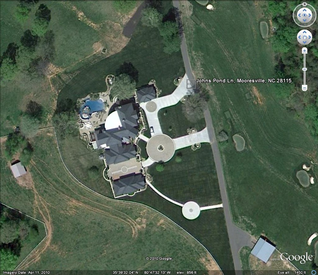 dale jr house from google earth  tiger012081  Flickr