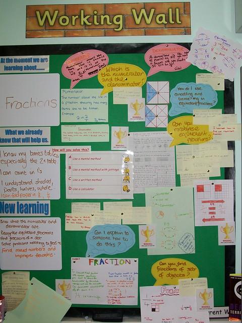 Modern Language Classroom Displays ~ Maths working wall flickr photo sharing