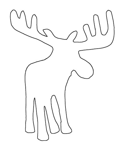 Moose Drawing Outline Moose Outline Photo