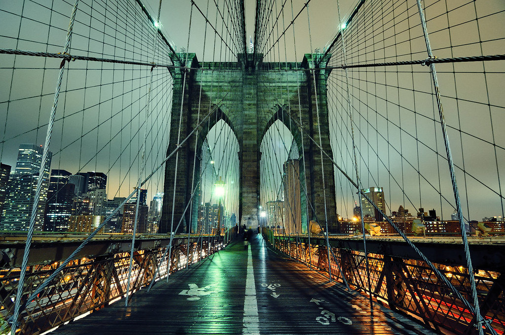 Brooklyn Bridge At Night New York City Can Anyone