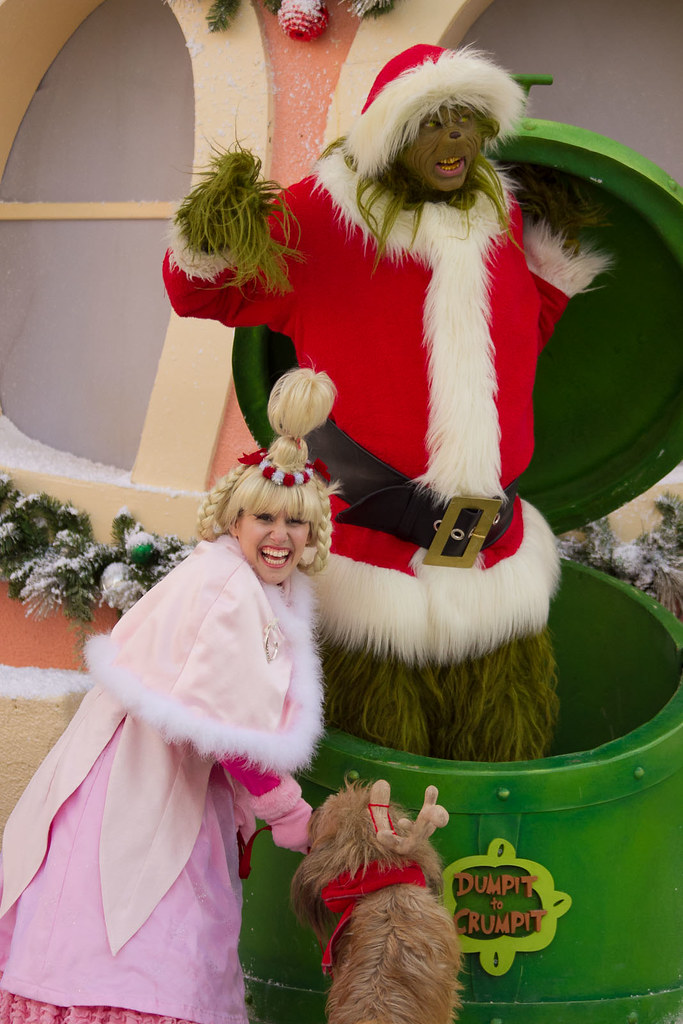 Whoville on the Backlot: the Grinch, Max the dog, Cindy Lo ...