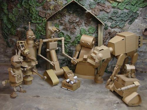 Pictures of Cardboard Robots Cardboard Robot Nativity