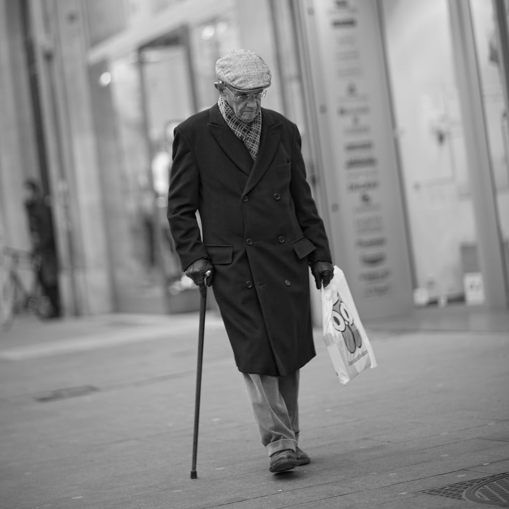 elderly man walking - photo #1
