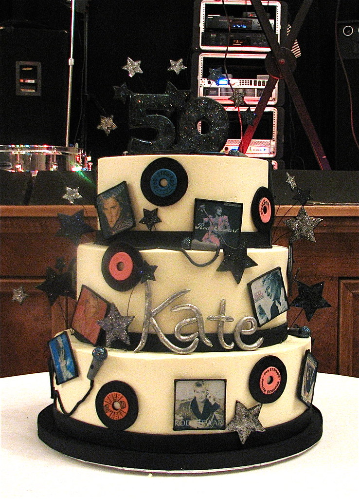 Rod Stewart Themed 50th Birthday Cake Rod Stewart Record