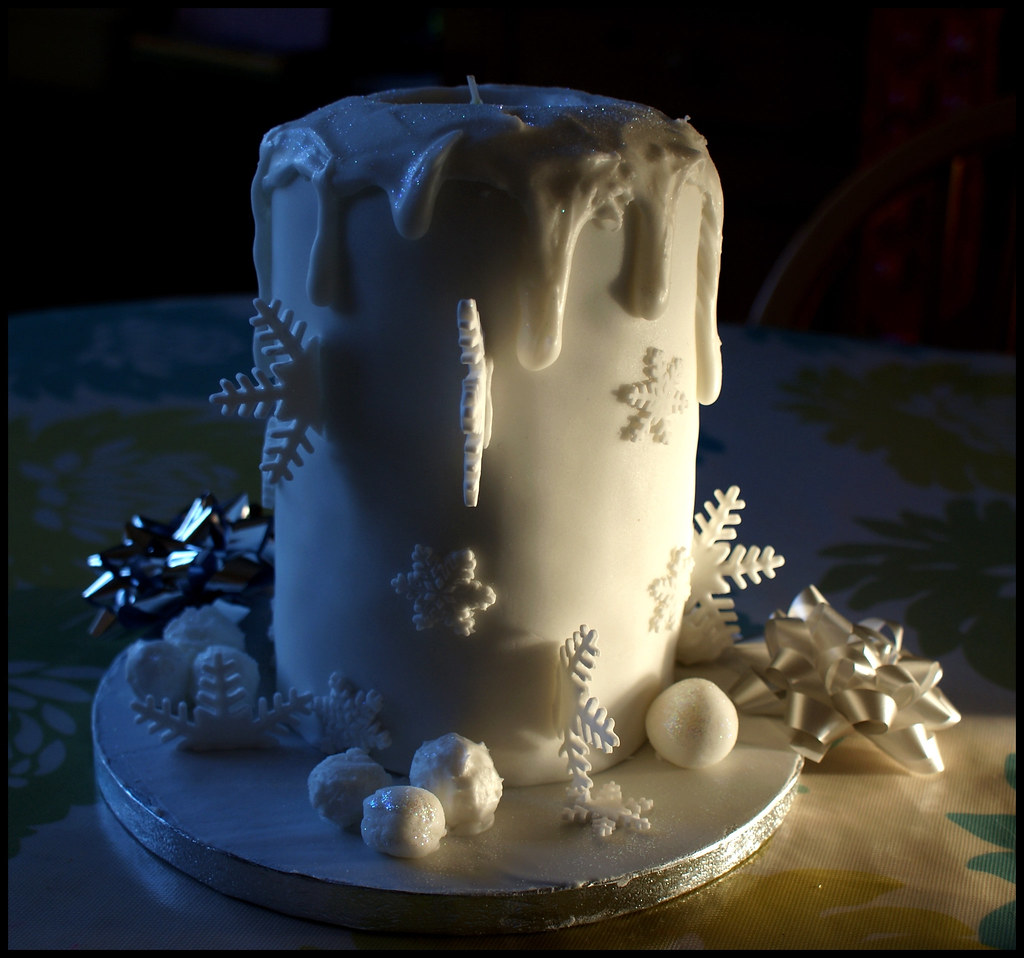 Christmas Candle Cake Images : Our Christmas candle cake. Sold out this year but orders ...