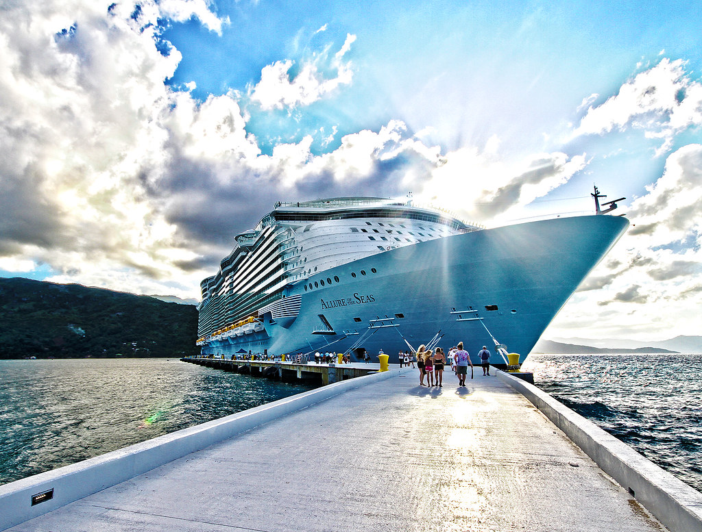 Rccl allure of the seas labadee pier at sunset rccl 39 s al flickr - The allure of the modular home ...