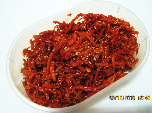 Jenny's ojingeochae muchim (seasoned dried squid) | by maangchi