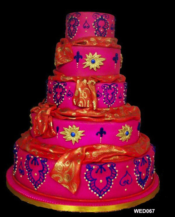 wedding cakes indian style wed067 5 tiered pink indian style wedding cake www 3brothe 24628