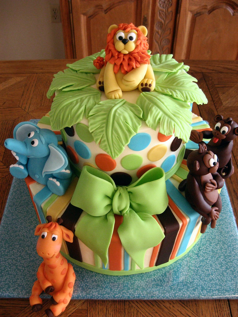 King Of The Jungle Cake Top View For