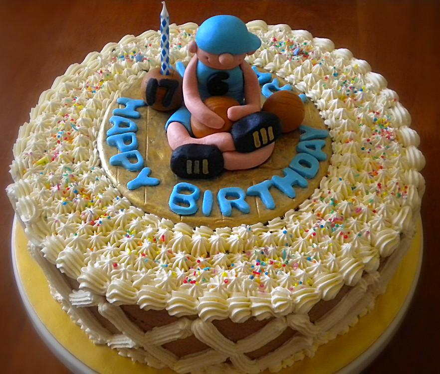 Tremendous Basketball Themed Birthday Cake Made This Mocha Cake For M Flickr Funny Birthday Cards Online Benoljebrpdamsfinfo