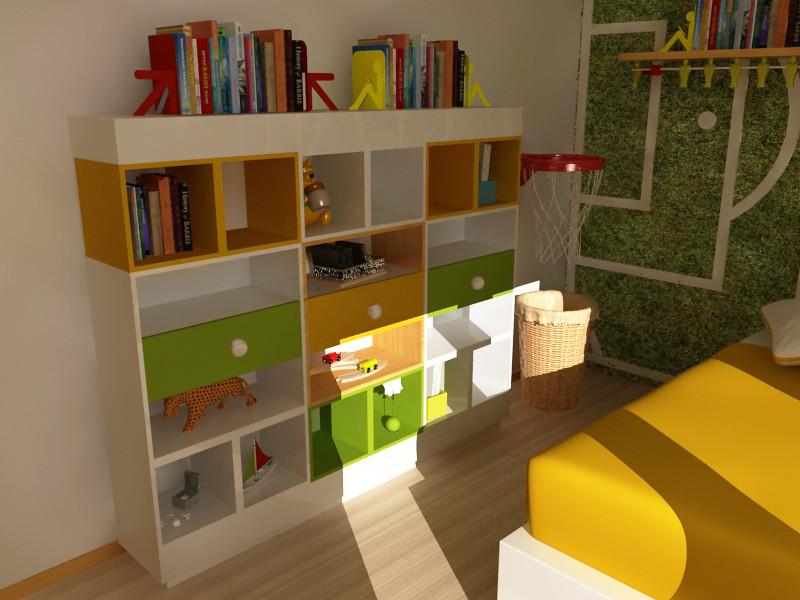 Dise o de libreros infantiles dise o de mobiliario para for Escritorio para recamara