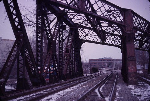 Railroad tracks in North Albany, December 26, 2010 - my final Kodachrome shots | by chuckthewriter