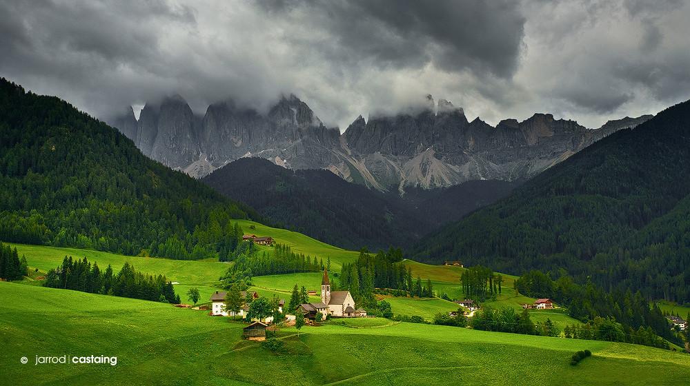 Italy trentino alto adige santa maddalena storm over for Mobilificio trentino alto adige
