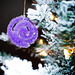 Borax Crystal Ornaments for Christmas - Purple Swirl