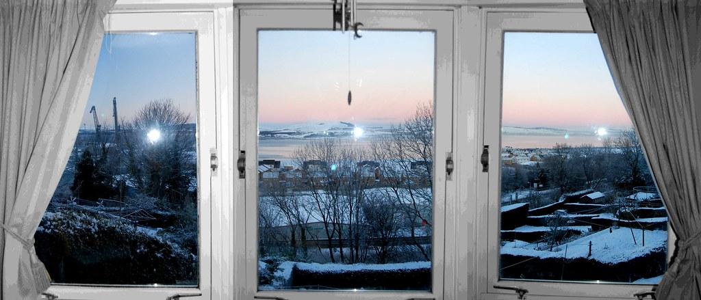 Winter Window Scene The Scene From My Bedroom Window