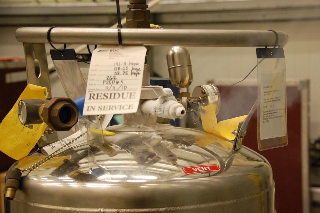 Cold Vent   Venting the liquid helium tank.   Matthew ...