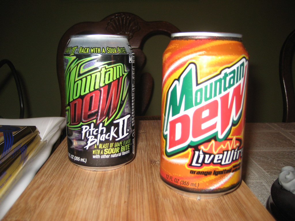 Mountain Dew Pitch Black & Livewire | Finally, I got the ...