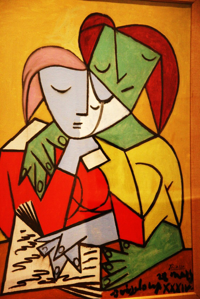 Picasso Art Two Girls Painting