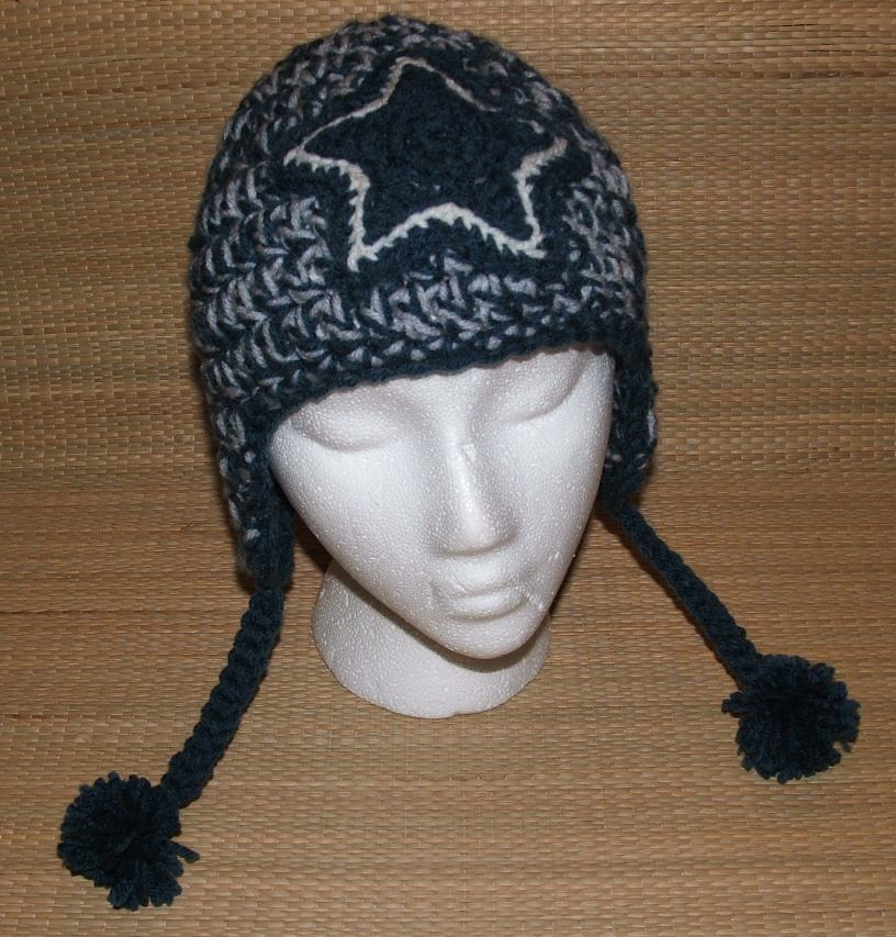 Knitting Pattern Cowboy Hat : dallas cowboys earflap hat Visit my ONLINE SHOP crochet pirate Flickr