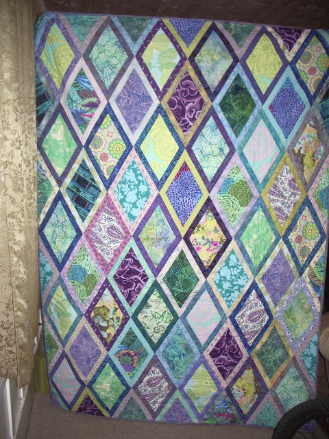 Diamond Pattern For Quilting : Bordered Diamonds Pattern Quilt Finished Bordered diamond ? Flickr - Photo Sharing!