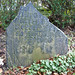 Broken 17th century gravestone at Bradford Cathedral
