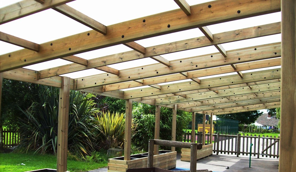 Lean To Canopies : Wooden shelter timber lean to outdoor classroom she