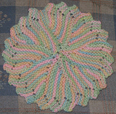 Free Knitted Round Dishcloth Patterns : Sherbet Swirl Round Knitted Dishcloth Hand knitted with Li? Flickr