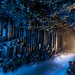Inside Fingal's Cave in the Hebrides Islands of Scotland