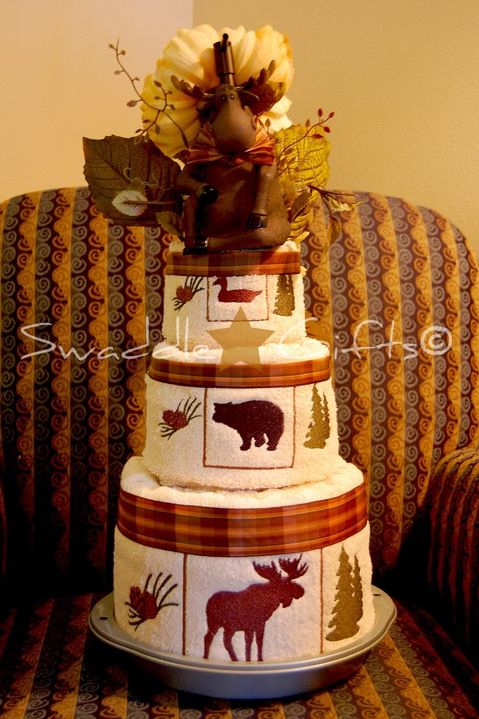 Michigan Moose Wedding Towel Cake 2 Bath Towels 2 Hand