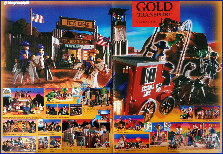 Playmobil western 2001 catalogue the glory of the old for Kutsche playmobil