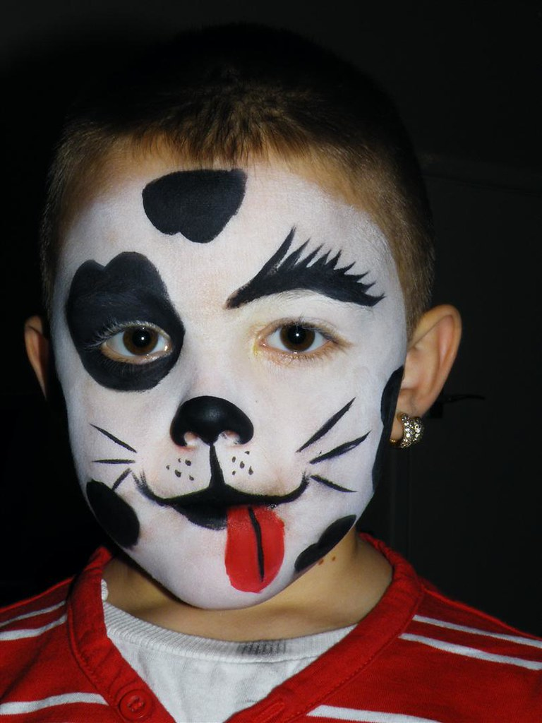 How To Paint A Dog Face For Halloween