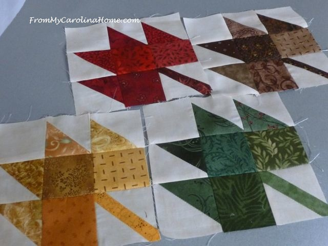 Autumn Jubilee Leaf Block Construction