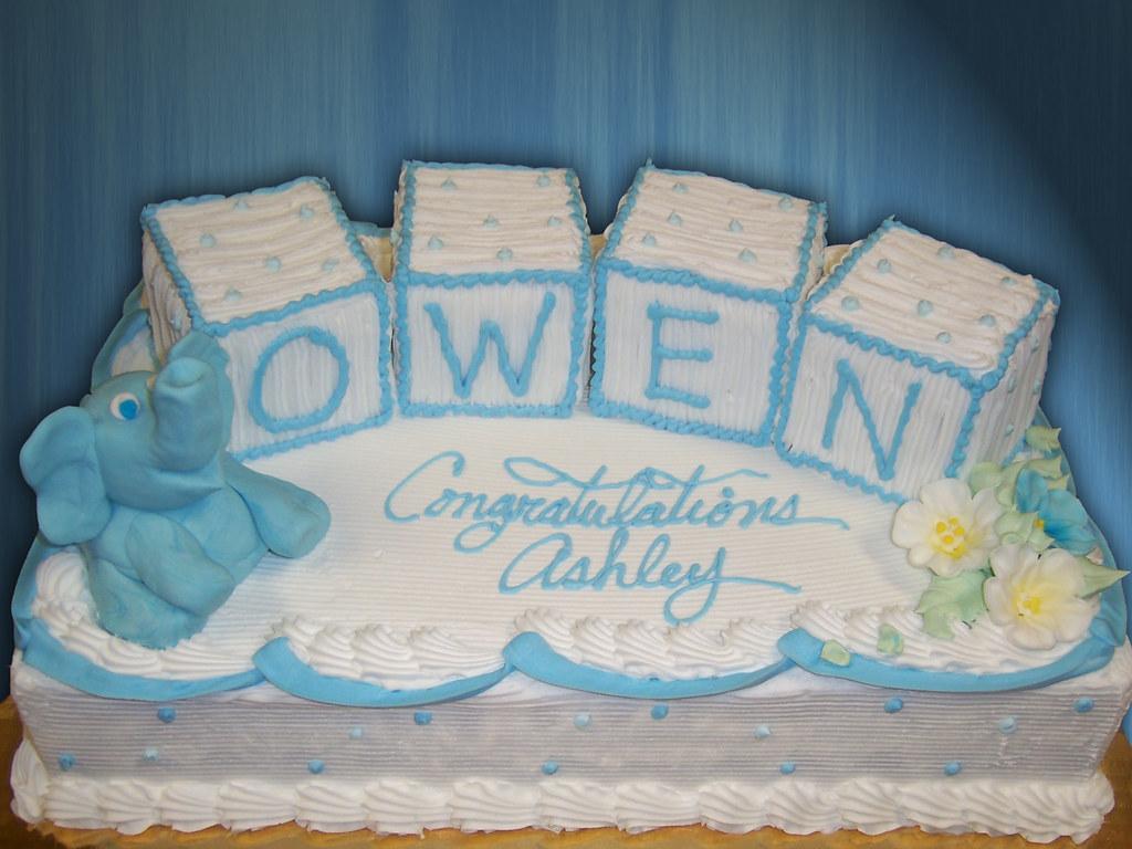 Baby Shower Blocks and Elephant Sheet Cake sarapweav Flickr