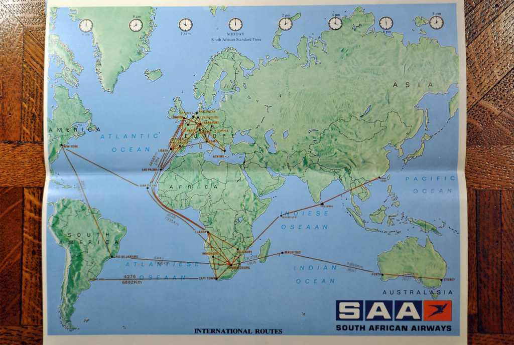 Africa Map Quiz%0A yahoo maps south africa saa routes      south airways international route  flickr